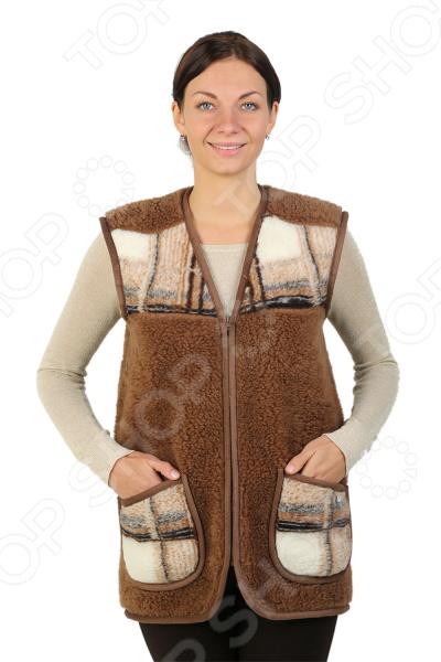 Жилет утепленный WoolHouse «Клетка». Цвет: коричневый жилет утепленный мужской woolhouse матео