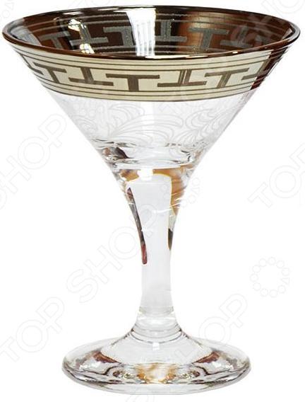 Набор бокалов для мартини Гусь Хрустальный «Греческий Узор» набор бокалов crystalex ангела оптика отводка зол 6шт 400мл бренди стекло