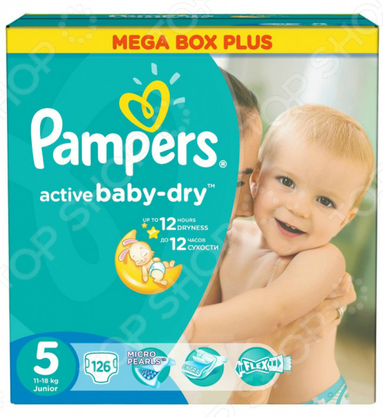���������� Pampers Active Baby-Dry 11-18 ��, ������ 5, 126 ��.