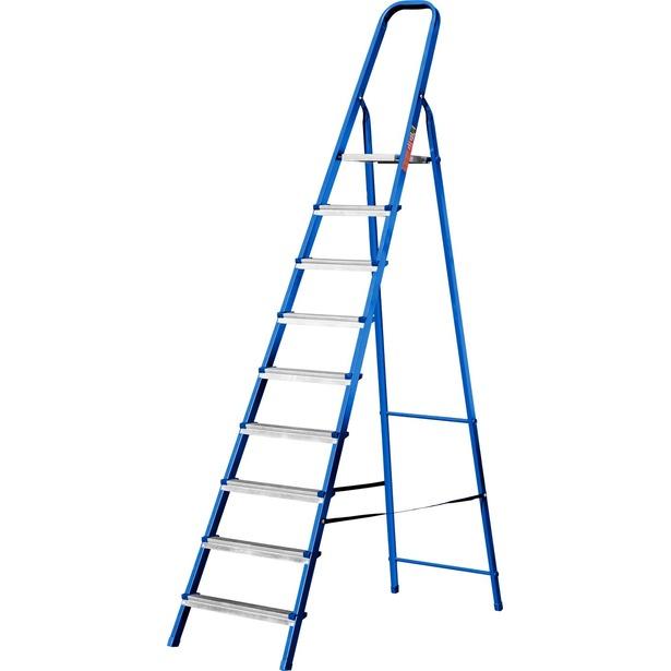 фото Лестница-стремянка Mirax 38800. Высота верхней ступени: 182 см. Количество ступеней: 9