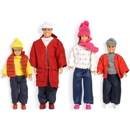 Купить Набор кукол для домика Lundby Smoland «Семья зимой»