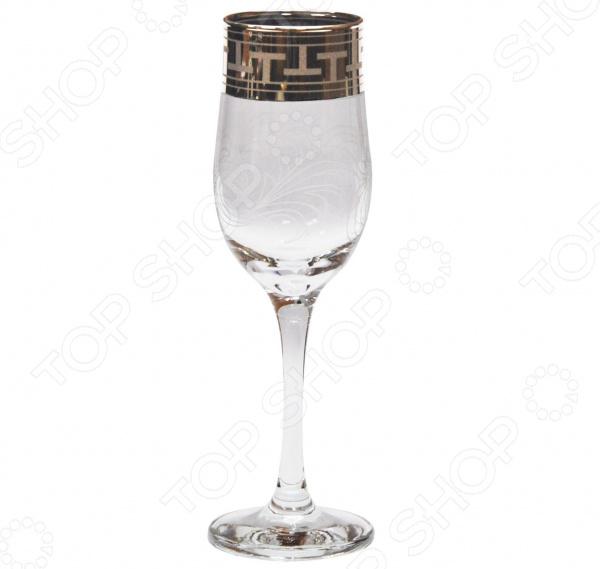 Набор бокалов для шампанского Гусь Хрустальный «Греческий Узор» набор бокалов для бренди гусь хрустальный золотой карат