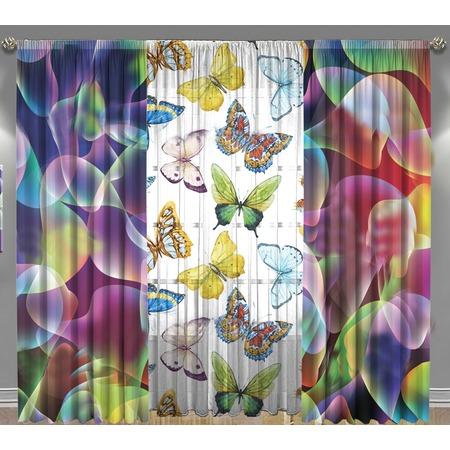 Купить Комплект фотоштор с тюлем ТамиТекс «Разноцветные брызги»