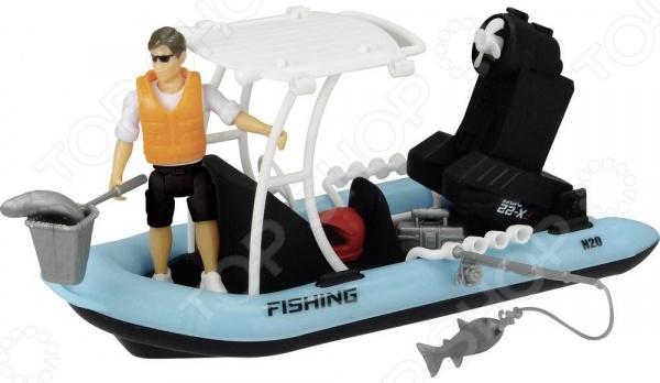 Игровой набор с фигуркой Dickie «Рыбацкая лодка»
