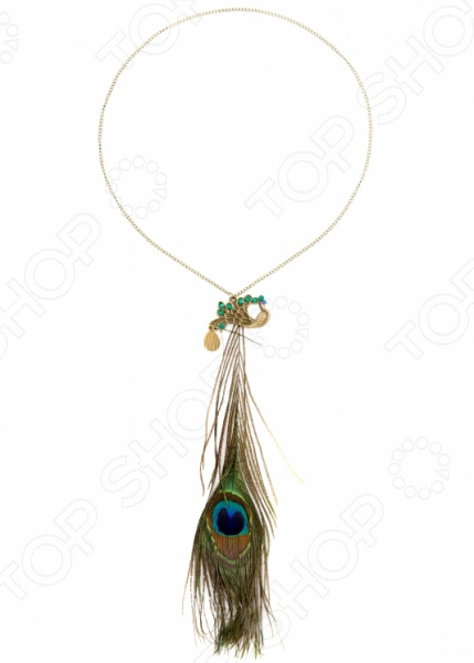 Кулон Mitya Veselkov «Перья павлина» женский кулон soul diamonds золотой кулон с бриллиантами buhk 8280 14ky