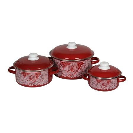 Купить Набор посуды Стальэмаль «Вологодское кружево»