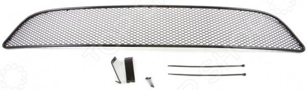 Комплект внешних сеток на бампер Arbori для Infiniti QX60, 2012. Цвет: черный
