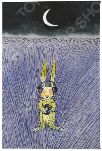 Обложка для паспорта кожаная Mitya Veselkov «Заяц-меломан» визитница mitya veselkov заяц меломан