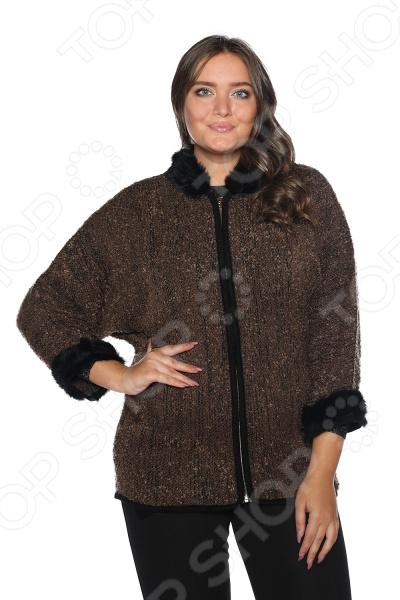Жакет Milana Style «Стихии любви». Цвет: коричневый жакет milana style хрустальная роса цвет джинсовый