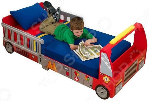 Кроватка детская KidKraft «Пожарная машина» детская кровать kidkraft детская кровать пожарная машина