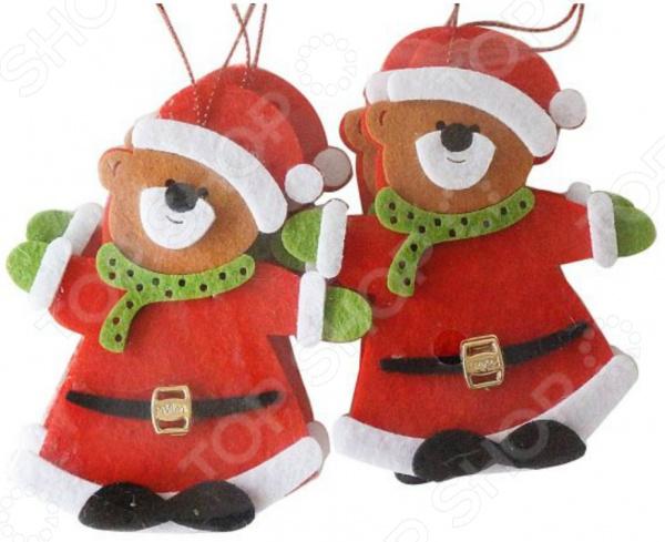 Набор подвесок декоративных Новогодняя сказка «Мишка»