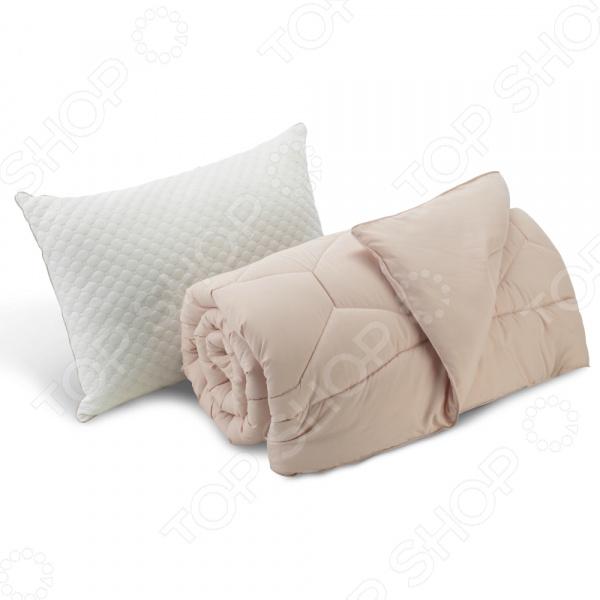 Комплект: подушка и одеяло Dormeo «Вдохновение». Цвет: розовый. Размер: 200х200. Уцененный товар