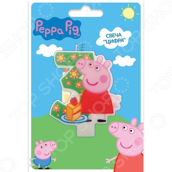 Свеча-цифра Peppa Pig №3