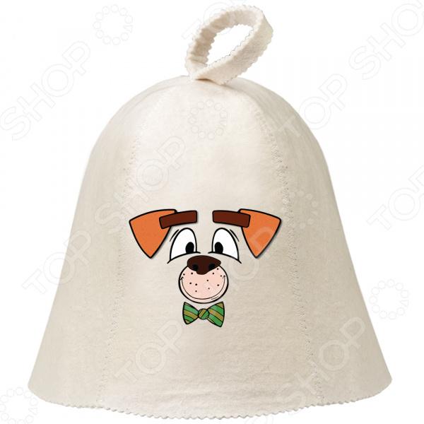 Шапка для бани и сауны с аппликацией Hot Pot «Собака» 41246