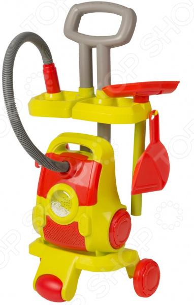 Тележка игрушечная HTI с пылесосом и аксессуарами