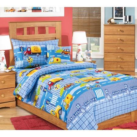Купить Ясельный комплект постельного белья Бамбино «Машинки»