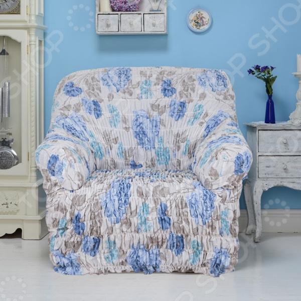 Zakazat.ru: Натяжной чехол на кресло Еврочехол «Цветочная фантазия»