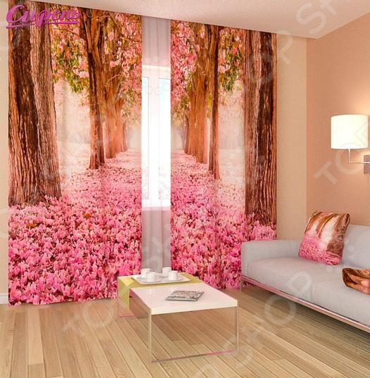 Фотошторы Сирень «Розовый тоннель»