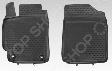 Комплект ковриков в салон автомобиля Novline-Autofamily передние Toyota Camry 2011-2014 / 2014 автомобильный коврик seintex 84980 для toyota camry