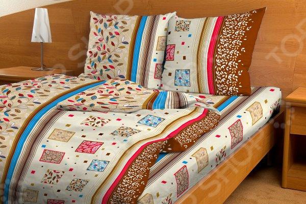 Комплект постельного белья Fiorelly «Яркий листопад». Евро