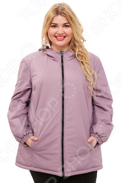 Куртка двухсторонняя СВМ-ПРИНТ «Белиссима». Цвет: сиреневый