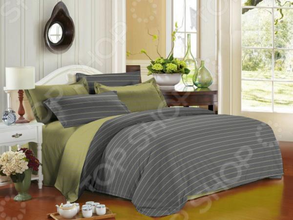 Комплект постельного белья La Noche Del Amor А-543. Цвет: серый, оливковый cacharel туалетная вода женская amor amor l eau 50 мл os