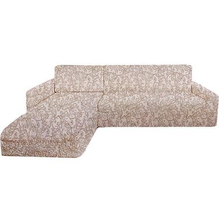 Купить Натяжной чехол на угловой диван с выступом слева Еврочехол «Виста. Антея»