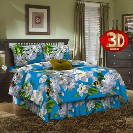 Купить Комплект постельного белья Диана «Цветение вишни». 1,5-спальный
