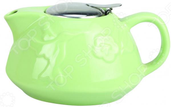 Чайник заварочный Elrington «Феличита. Рельефная глазурь» чайник заварочный elrington глазурь с фильтром цвет красный 950 мл