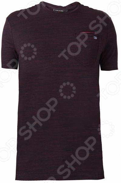 Футболка мужская Finn Flare S18-42037. Цвет: вишневый itr8307 s18 tr8 sop 4