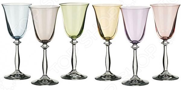 Набор бокалов для вина Bohemia Crystal «Анжела» 674-378 набор бокалов crystalex джина б декора 6шт 210мл шампанское стекло