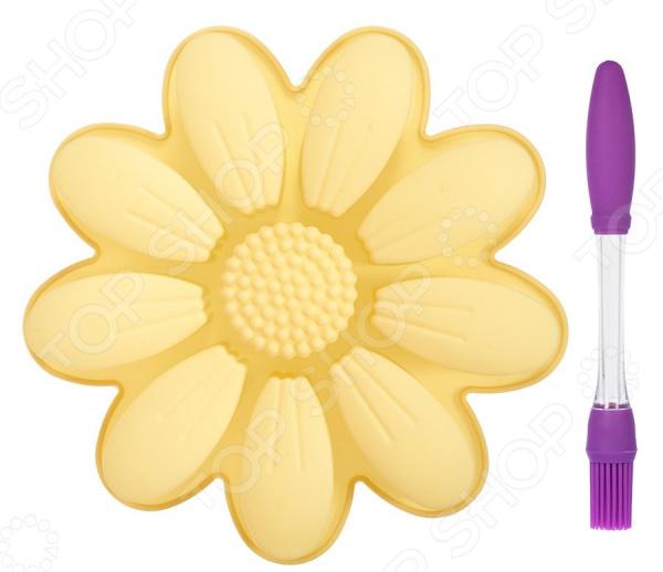 Набор: форма для выпечки и кисть Marmiton «Ромашка» набор форма для выпечки и кисть marmiton ромашка