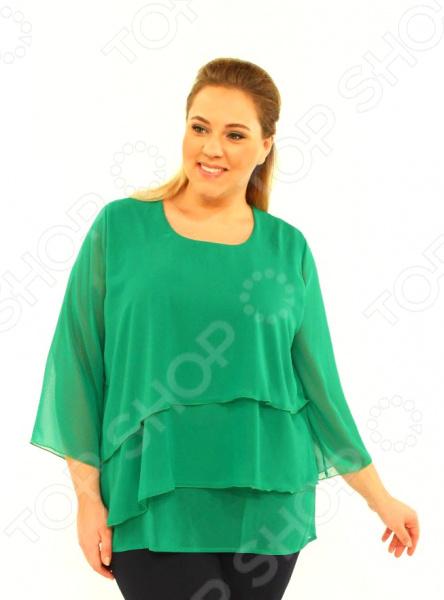 Блуза Laura Amatti «Лот 1004». Цвет: зеленый цена