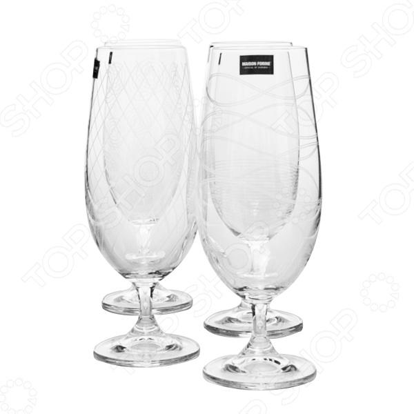 Набор бокалов Banquet Crystal KE02B4G006370D-4GB набор бокалов crystalex ангела оптика отводка зол 6шт 400мл бренди стекло