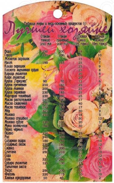 Доска разделочная сувенирная Miolla «Лучшей хозяйке - Розы»