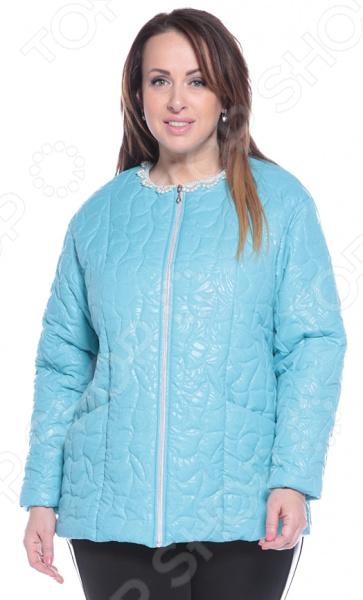 Куртка ТРЕНД «Торжественный вид». Цвет: бирюзовый