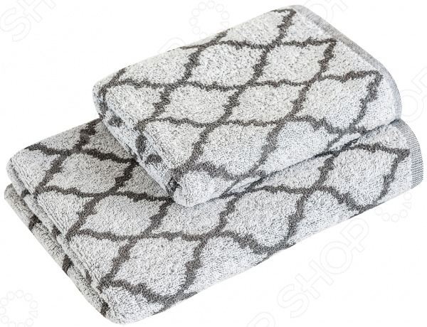 Полотенце махровое Василиса Fresh Look. Цвет: серый