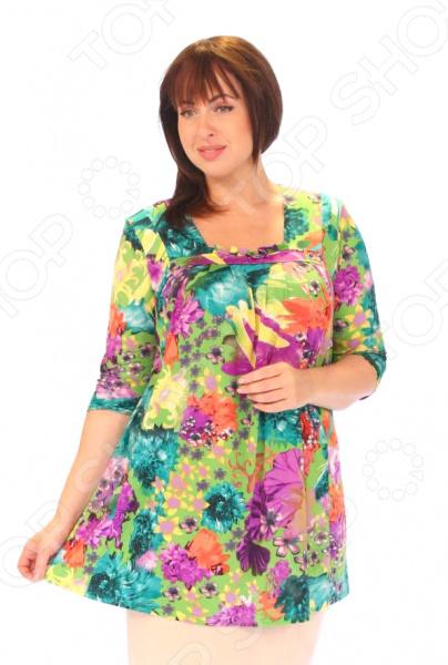 Блуза Pretty Woman «Валя». Цвет: зеленый, фиолетовый цена 2017