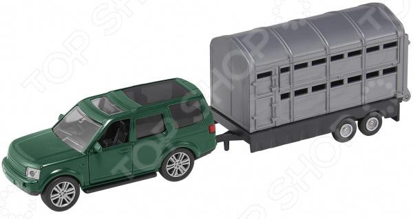 Набор игровой с машинкой HTI «Вездеход с прицепом» игрушка hti roadsterz полноприводный джип с трейлером 1373145 uni