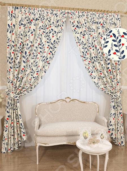 Комплект штор Сирень «Оппиран» комплект штор с покрывалом для спальни в москве