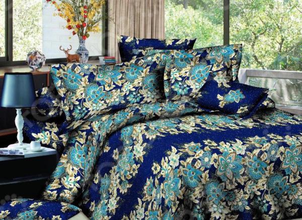 Комплект постельного белья «Сапфировые сны». Евро