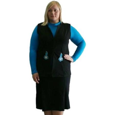 Купить Костюм-тройка с юбкой Матекс Заря. Цвет: черный, голубой