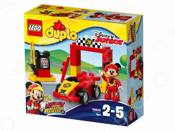 Конструктор для малышей LEGO Duplo «Гоночная машина Микки» игрушка для животных каскад удочка с микки маусом 47 см