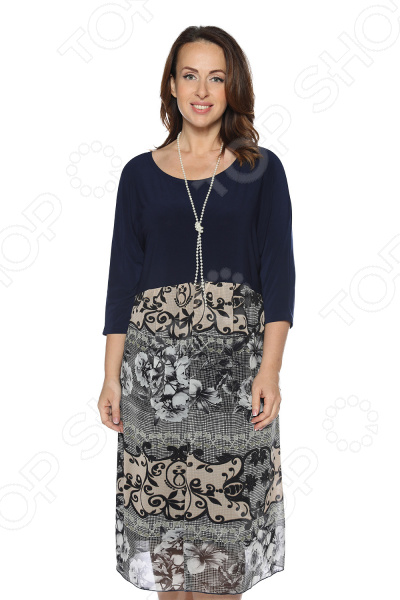 Платье Лауме-Лайн «Восточная сладость». Цвет: темно-синий