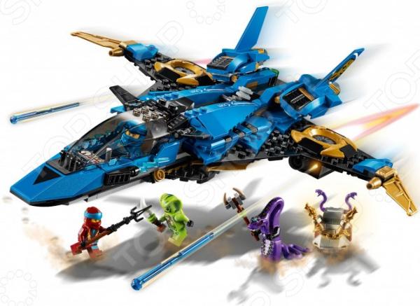 Конструктор для мальчика LEGO 70668 Ninjago «Штормовой истребитель Джея» конструктор lego штормовой истребитель джея 70668 ninjago legacy