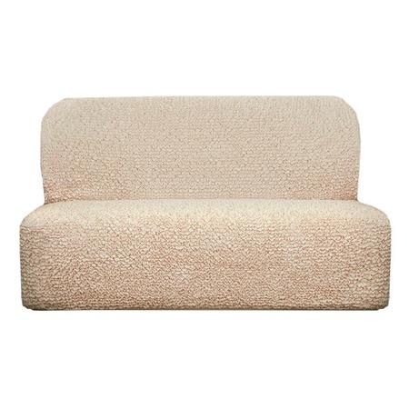 Купить Натяжной чехол на трехместный диван без подлокотников Еврочехол «Микрофибра. Ваниль»