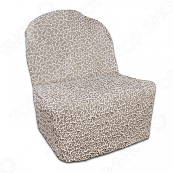 Zakazat.ru: Натяжной чехол на кресло без подлокотников Еврочехол «Жаккард. Сильва»