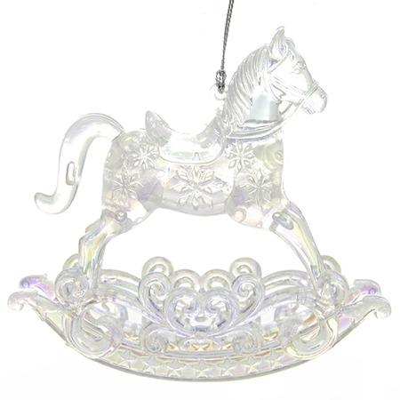 Купить Елочное украшение Crystal Deco «Лошадка-каталка»