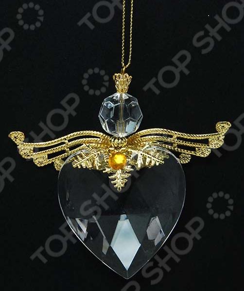 Новогоднее украшение Crystal Deco «Сердечко с крылышками»