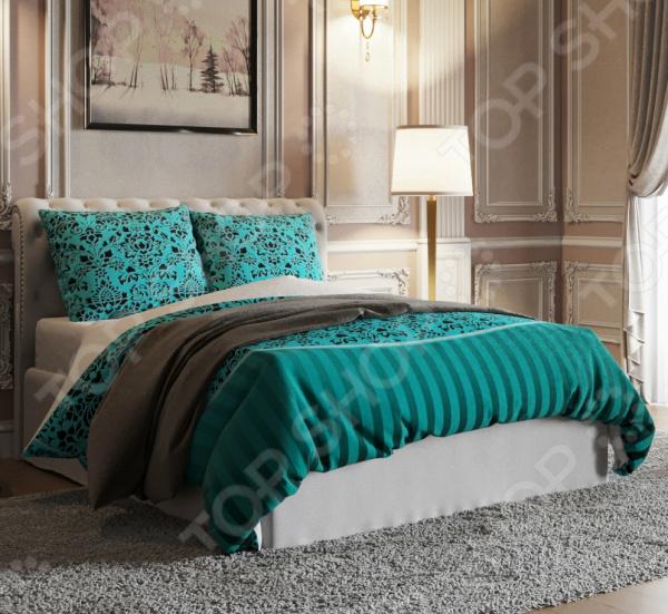 Комплект постельного белья Стильный дом «Азур» фотоштора стильный дом фотошторы стильный дом романтичный букет
